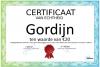 Certificaat Gordijn