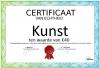 Certificaat Kunst