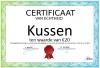 Certificaat Kussen