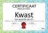 Certificaat Kwast
