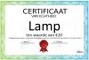 Certificaat Lamp