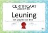 Certificaat Leuning