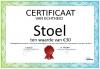 Certificaat Stoel