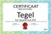 Certificaat Tegel