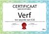 Certificaat Verf